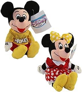 Disney Bean Bag Plush - MICKEY & MINNIE MOUSE (Set of 2) (9 inch)