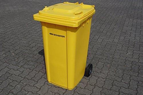 SSI Schäfer Mülltone 240L gelb Müllgroßbehälter - made in Germany