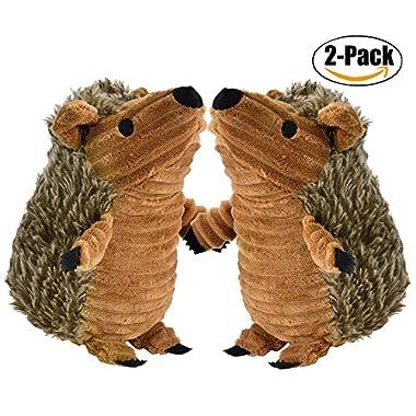 Legendog Hedgehog Dog Toys, 2 Pcs Dog Squeaky Toys Stuffed Hedgehog Dog Chew Toys Plush