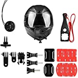 Taisioner Adjustable Helmet Curved & Flat Adhesive Stickers Mount Kit Compatible with GoPro / Polaroid / Sony / AKASO Action Camera Accessories