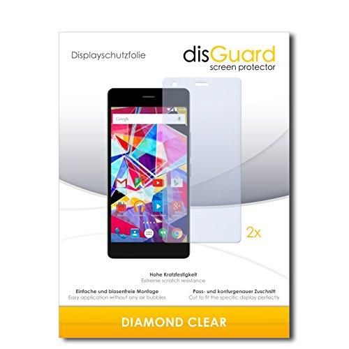 disGuard 2 x Bildschirmschutzfolie Archos Diamond S Schutzfolie Folie DiamondClear unsichtbar