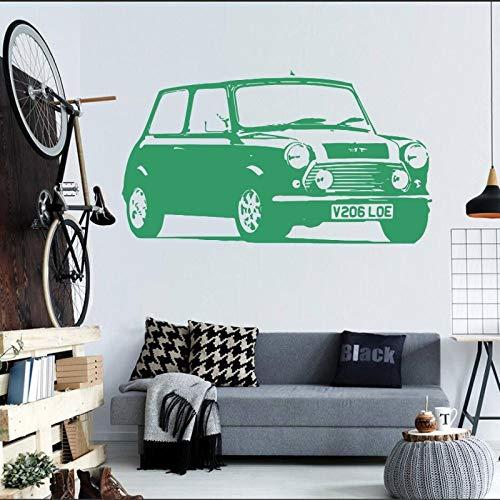 Geiqianjiumai Hohe qualität große Mini Auto automatische Aufkleber Schlafzimmer wandaufkleber künstler Dekoration Vinyl Aufkleber Wohnzimmer Papier Zimmer Wand grün 30X57 cm