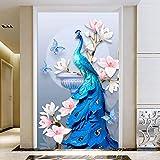 LINLIN Kit de Peinture en Forme de Diamant Full Drill À la Main Bricolage 5D Cristal Point De Croix Artisanat Maison Mur Mosaïque Décor (Outil Inclus/sans Cadre),60 * 90CM