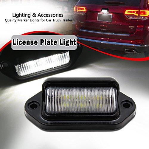 FXC 2x Car LED License Plate Tag Light 12V Side Marker Lights or Convenience Courtesy Door Step Lamp