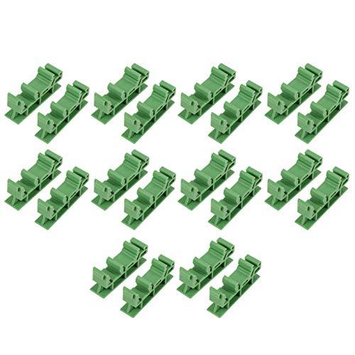 SALUTUYA Universelle Leiterplattenhalterung DIN-Schienenadapter zur Montage der DIN C45-Schiene DIY Electrical