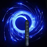 HDXY LED Dance Whip Party Fiber Optic Whip 6ft led Rechargeable 7 Color Light up 360° Swivel Rave Glow Whip (led Whip)