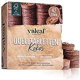 valeaf Kokos Quelltabletten 42 STK mit Nährstoffen I torffreie Kokoserde Anzuchterde mit...