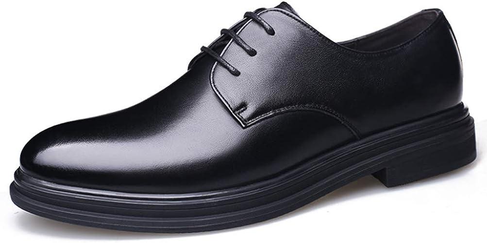 Hommes Chaussures d'affaires, Printemps Occasionnels Plat en Bas de la Sangle Avant Hommes Chaussures en Cuir Chaussures Individuelles en Cuir male Chaussures,noir,8UK