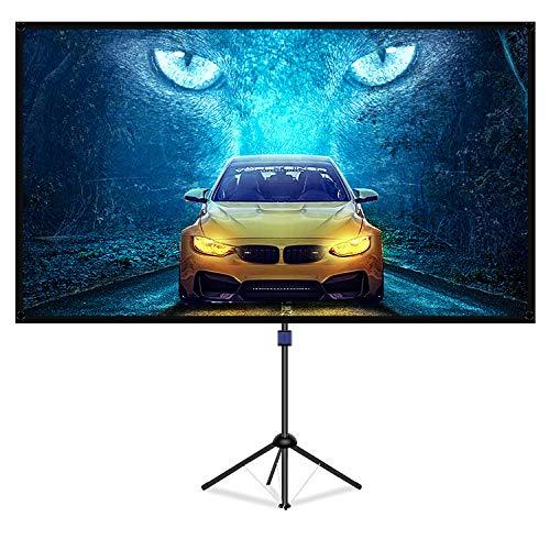 LiBatterスクリーン 4K対応 改良新版 ガラス繊維材料を採用 プロジェクタースクリーン 三脚式 屋内屋外兼用 16:9 視野角160°60インチ三脚式 スクリーン 防しわ加工 お手入れ簡単「「60インチ」