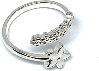 Fresh Flower shape Ring for women, silver color, Stainless Steel, suitable for all occasions.