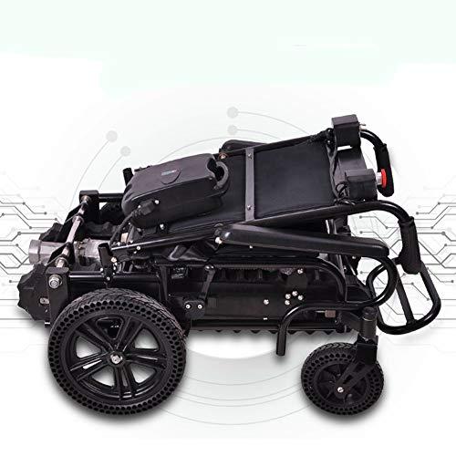 Rollstuhl Faltbar Elektrisch angetriebener Hochleistungsrollstuhl für Erwachsene, kompaktester Elektrorollstuhlantrieb mit Elektroantrieb Nettogewicht 55 kg, Motorleistung 470 W, Zuladung 150 kg