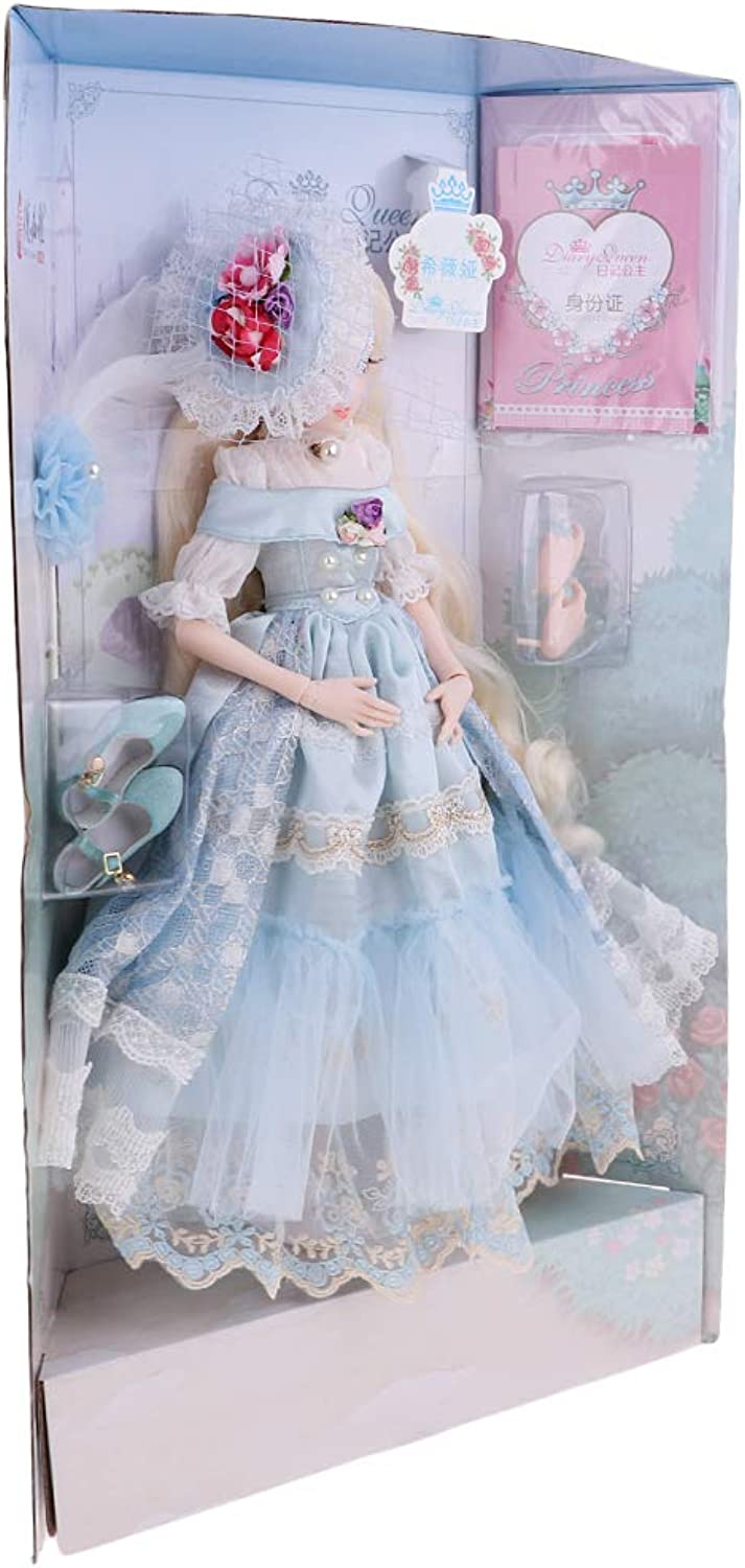 Fenteer Fashion Dolls Girls Toy Collectibles Beautiful Princess Doll with Dress Birthday Kids Toy  5