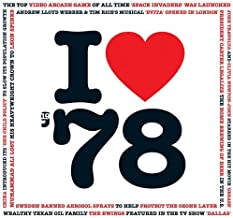 1978 BIRTHDAY or ANNIVERSARY GIFT - I Love 1978 Greeting Card & 1978 Chart Hits Compilation Music CD Gift with 20 Original Songs All Downloadable