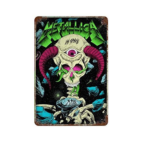 GDRAY Metallica Insoake Vintage-Blechschild Metallschild Werbeplakat Geschenk für Männerhöhlen Cafe Bar Pub Bier Wanddekoration Kunst