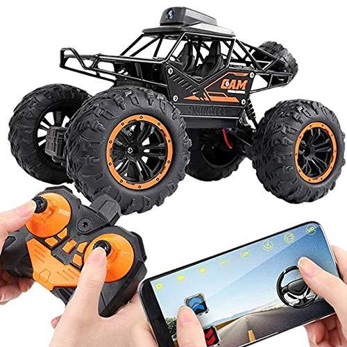 WiFi Remote Control Car with Camera, 4WD Remote Control Truck FPV High Speed Gravity Sensor Fast RC Cars, Gift for Kids Adults Girls Boys