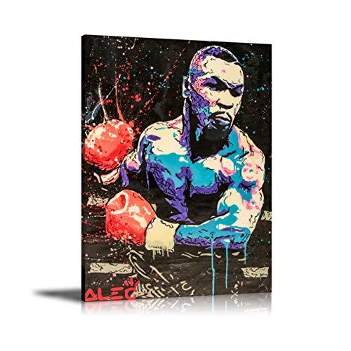 A&D ALEC Monopolys Boxen Mike Tyson AbstrakteWandkunst Malerei Poster Leinwand Malerei Druck für Wohnzimmer Wohnkultur-50x70cmx1 stücke-Kein Rahmen