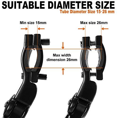 Toptrek Fahrradständer Einstellbarer Universal Hinterbauständer Aluminiumlegierung Fahrrad Ständer Anti-Rutsch Seitenständer für 24-28 Zoll Mountainbike/Rennrad/BMX/MTB - 5