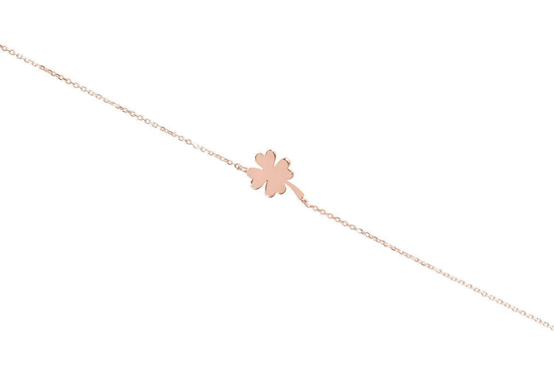 Lucky 4-Leaf Clover Bracelet Gold 9K 18K Cash special price 14K Phoenix Mall Leaf