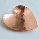 Copper Heart Dish Valentine's Heart Personalised Heart