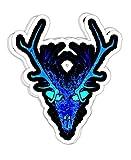 chillylkst Wendigo Skinwalker Evil Monster Spirit Skull Mask 14-4x3 Vinyl Stickers, Laptop Decal, Water Bottle Sticker (Set of 3)