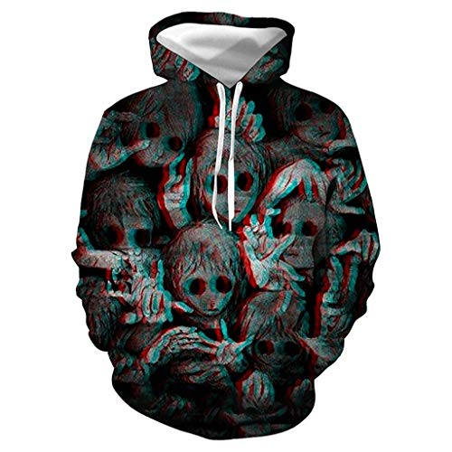Festival Sweatshirt Jugend Sportbekleidung Kapuzenpullover Hoodie Halloween Film 3D Drucken Sweater Windjacke Strickjacke Rollkragenpullover Wollpullover Herren Pullis Hoodie
