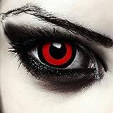 """Designlenses, mini sclera lentillas de colores negro y rojo para Halloween Saw muñeca disfraz o Ken kaneki cosplay 17mm lentes sin dioprtías/corregir + gratis caso de lente """"Tokyo Ghoul'"""