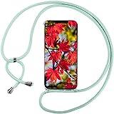 Mi-Case Funda con Cuerda para Samsung Galaxy A3(2017) A320-4.7, Carcasa Transparente TPU Suave Silicona Correa Colgante Ajustable Collar Correa de Cuello Cadena Cordón - Verde