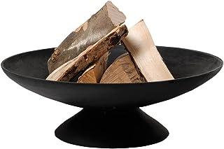 Esschert Design Feuerschale, Feuerstelle auf Fuß, niedrig, Größe L, Durchmesser 60 cm x ca. 21 cm Höhe