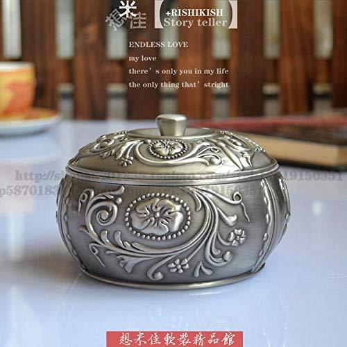 Fslt asbak van fijn blik met deksel model antioxidant asbak accessoires voor het huis van hoge kwaliteit decoratie theesalon Ancient Tin