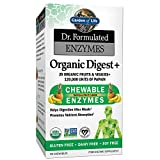 Garden of Life Organic Chewable Enzyme Supplement - Dr. Formulated Enzymes Organic Digest+...