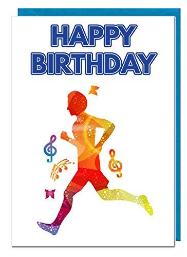 Geburtstagskarte – Laufen / Joggen – Papa – Ehemann – Bruder – Sohn – Großvater – Freund