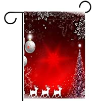 庭の装飾の屋外の印の庭の旗の飾りクリスマスサンタクロース鹿 テラスの鉢植えのデッキのため