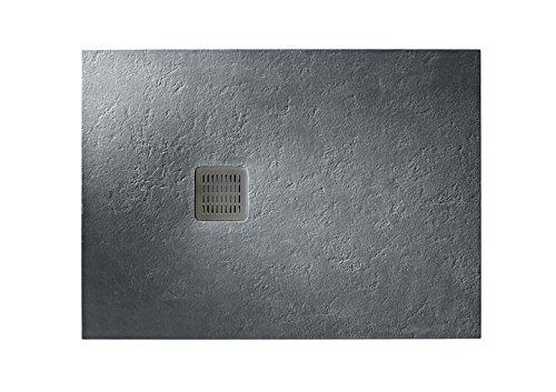 Roca - Plato de ducha extraplano de STONEX® - Serie Terran, Color Blanco