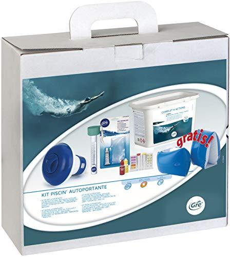 Gre 76054 - Kit para el Tratamiento del Agua de Piscinas Desmontables