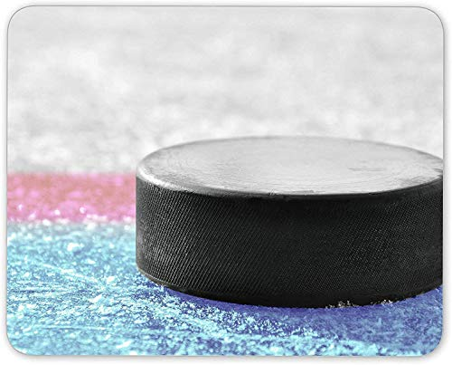 Mausemat Ice Hockey Puck - Teenager Boys Ice Skater Rectangle Mouse Pads Table Durable Game Mousepad Laptop Mouse Mat Pc Desktops Keyboard Custom Rubber 25X30CmT