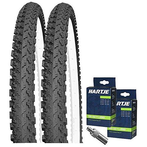 Set: 2 x Kenda K810 MTB Fahrrad Reifen 50-507 / 24x1.90 + Schläuche Dunlopventil
