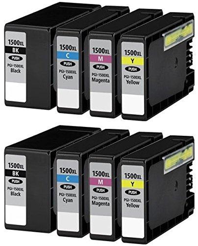 8 XL Druckerpatronen für Canon Maxify MB2000 Series, MB2050, MB2300 Series, MB2350   kompatibel zu Canon PGI-1500XL