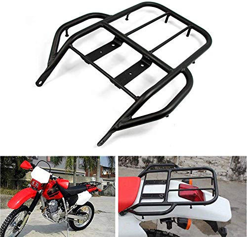 COPART Motorcycle Rear Luggage Rack For Honda XR250 XR400 1996-2004,Black