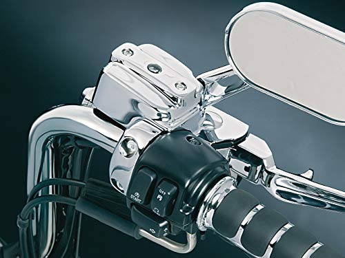 Kuryakyn 9126 Motorcycle Handlebar Accessory: Complete Chrome Replacement Brake and Clutch Control Dress-Up Kit for 1996-2017 Harley-Davidson Motorcycles, Single Disc
