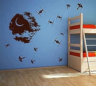 STICKERSFORLIFE ik2726 Wall Decal Sticker Death Star Star Wars Space Ships Nursery Teenager