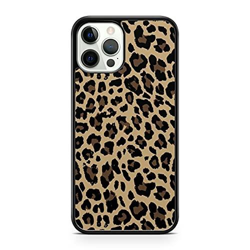Elegante funda para teléfono con diseño de leopardo con estampado de animales (modelo de teléfono: Apple iPhone 5)