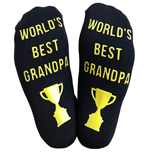 Worlds Best Grandpa Novelty Socks - Great Gift for Grandpa