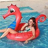 CYYS Flotadores inflables de la Piscina de Caballito de mar, flotadores de la Piscina Divertidos, tumbonas Grandes, tías de la Piscina de Verano, Adecuado para la Playa d