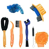 YOUMI Bicycle Cleaning Kits, 8-Piece Precision Bicycle Cleaning Brush Tool Including Bicycle Chain Brush, Suitable for City, Hybrid, Mountain, Highway, Folding Bicycle. (8 Sets)