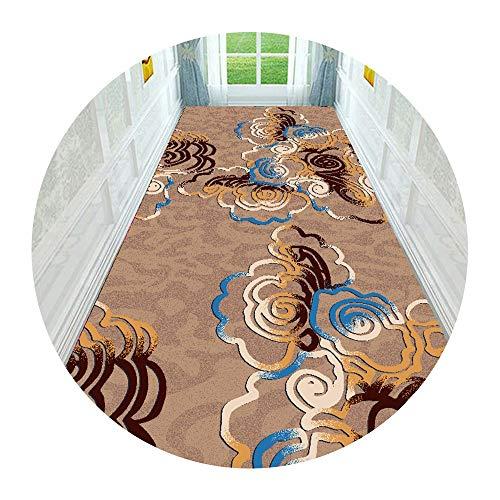 XIA Bunter Korridor Runner Teppich, 3D-Blumenmuster, Extra Eingang Teppichboden Eingang Treppen rutschfeste Teppich (Größe: 80x100cm) (Size : 1.2x5m)