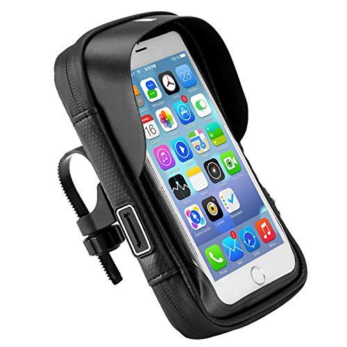 Handy-Lenkerhalterung Wasserabweisende Halterung Rotation Fahrrad Halterung Wasserdicht Wallet Card Mesh Fach Tasche für Fahrrad Motorrad 6 Zoll Touchscreen