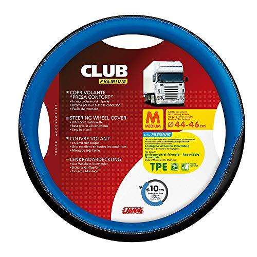 Lampa Funda para Volante de camión, de la Marca, Modelo Club Prémium, de Color Azul y Negro, diámetro de 44-46 cm