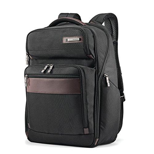 Samsonite Kombi Business Backpack, Black/Brown, 17.5 x 12 x 7-Inch