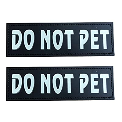 """SGODA Service Dog Patch for Pet Vest and Harness, Large, 6""""x2"""", DO NOT PET, IN TRAINING, THERAPY DOG"""
