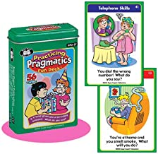Practicing Pragmatics Fun Deck Flash Cards - Super Duper Educational Learning Toy for Kids